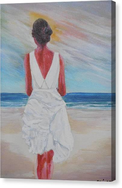 Pensive 2 Canvas Print by Siobhan Lawson