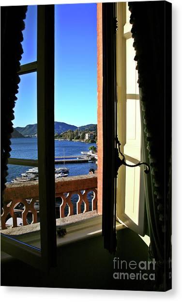 Villa D'este Window Canvas Print