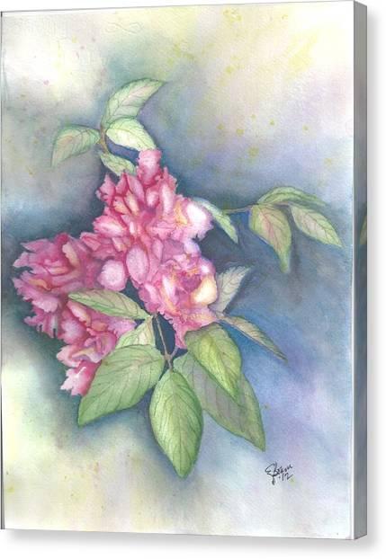 Peonies Canvas Print by Elise Boam