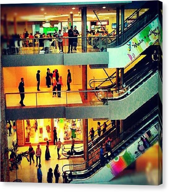 Social Canvas Print - #people #social #mall #recife by Luan J. Santos