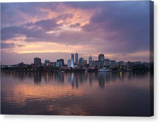 Peoria Skyline Canvas Print by Straublund Photography