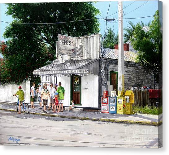 Pepe's Cafe Key West Florida Canvas Print