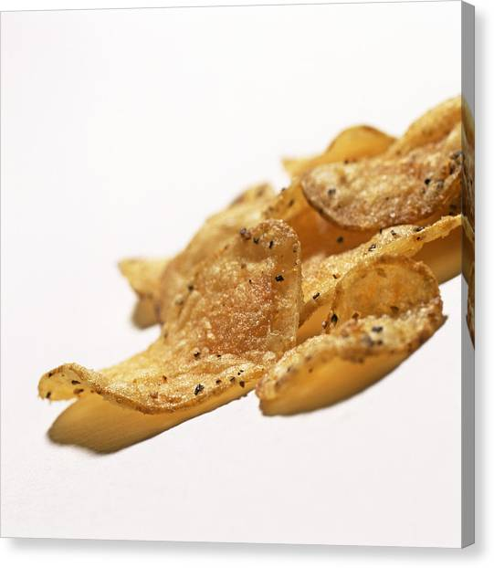 Peppered Crisps Canvas Print by Kevin Curtis