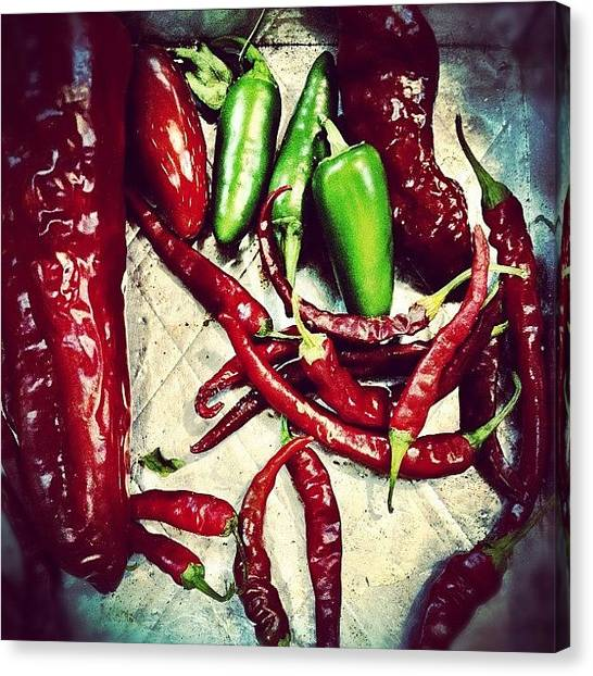 Farmers Canvas Print - #peppers #chili #foodporn #954 by Invisible Cirkus