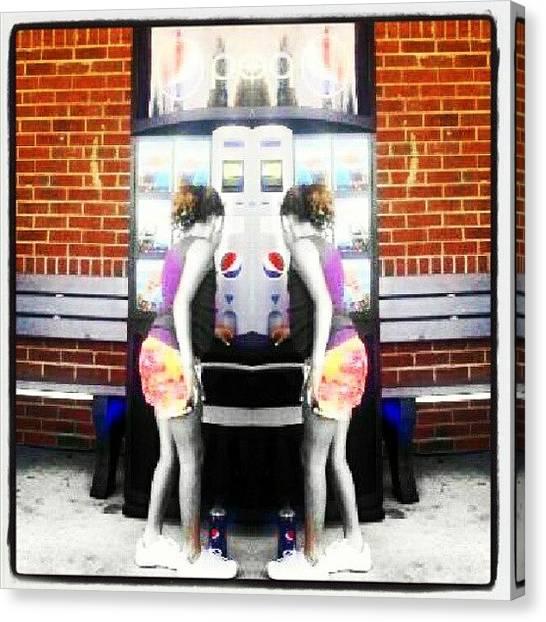 Soda Canvas Print - Pepsi 2 - Scj - #pepsi #picoftheday by Andi Lockett-johnson