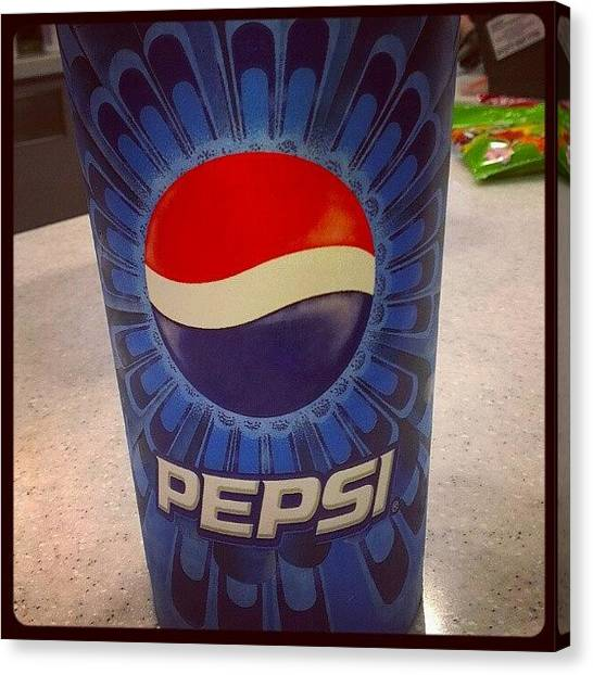 Pepsi Canvas Print - Pepsi Cup! God I Spoil You Guys! by Megan Walker