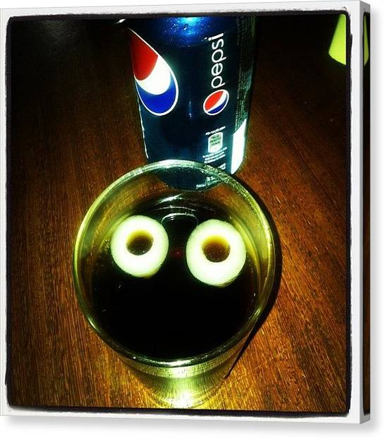 Pepsi Canvas Print - #pepsi #face by Guilherme Lopes