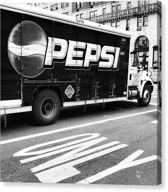 Pepsi Canvas Print - Pepsi by Kateryna Mysak