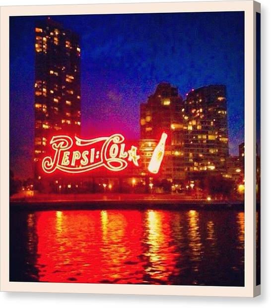 Pepsi Canvas Print - Pepsi, Long Island City by Trey Rucker