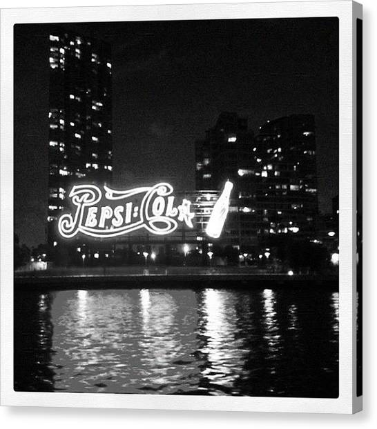 Pepsi Canvas Print - Pepsi Sign Long Island City. Reminds Me by Trey Rucker