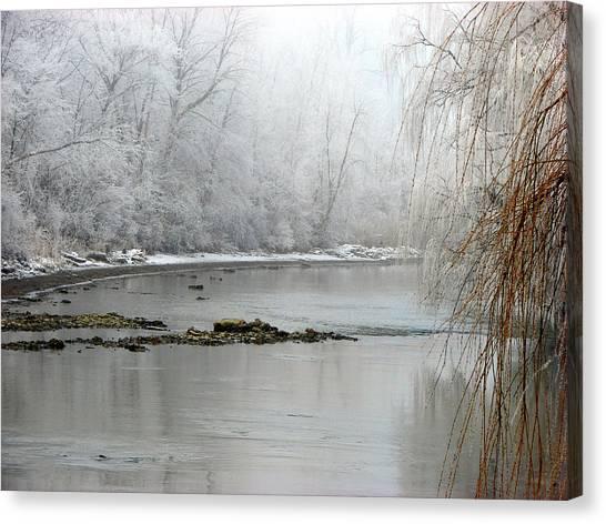 Perch Creek Hoar Frost Canvas Print