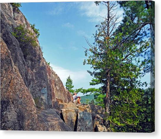 Perched Over Echo Lake Canvas Print