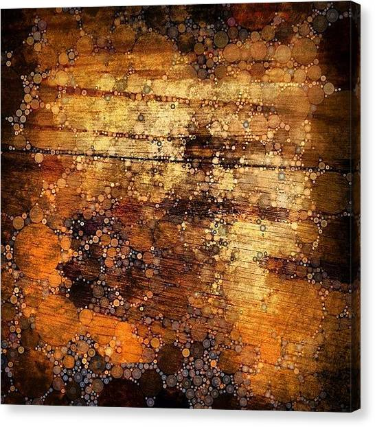 Tables Canvas Print - Percolated Painted Wood by Natasha Marco