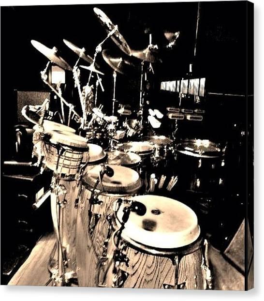 Jazz Canvas Print - Percussion #percussion #music #jazz by David Sabat