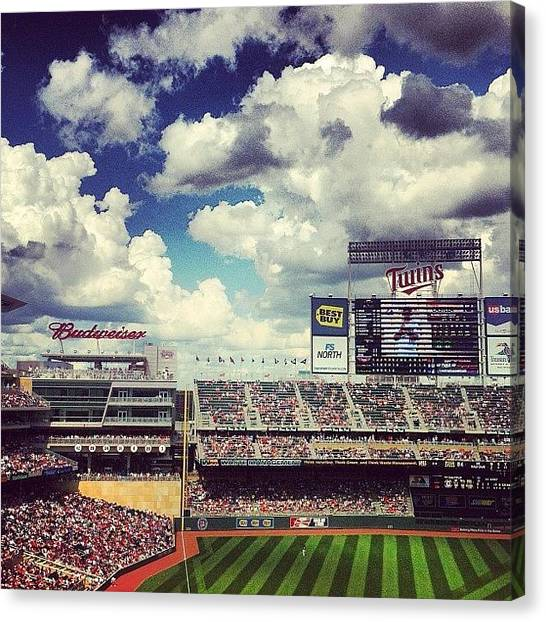 Minnesota Twins Canvas Print - Perfect Day For Baseball. #minnesota by Jen Hernandez