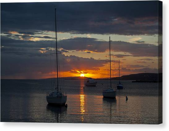 Perfect Ending In Puerto Rico Canvas Print