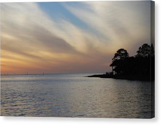 Canvas Print featuring the photograph Perfect Florida Finish by Judy Hall-Folde