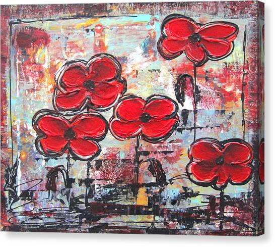 Perfect Poppies Canvas Print