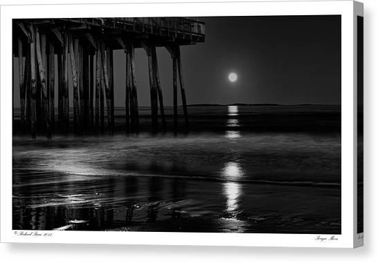 Perigee Moon Canvas Print by Richard Bean