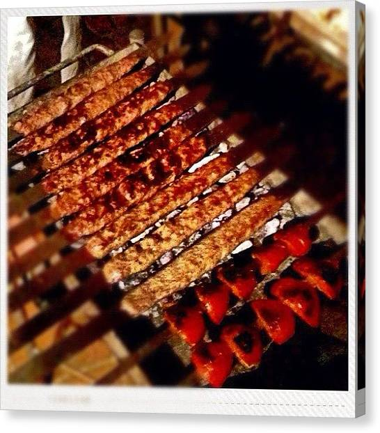 Tea Canvas Print - Persian Kebabs For Dinner #fuda by Luke Fuda