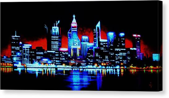 Perth By Black Light   Sold Canvas Print