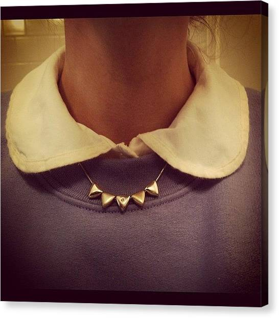 Triangles Canvas Print - Peter Pan Collar! #collar #triangles by Catherine Cox