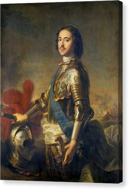 State Hermitage Canvas Print - Peter The Great, Russian Tsar by Ria Novosti