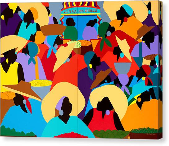 Canvas Print - Petion-ville Market Diptych by Synthia SAINT JAMES