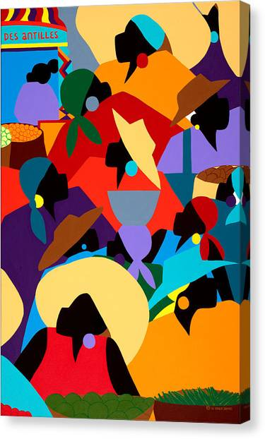 Canvas Print - Petion Ville Market II by Synthia SAINT JAMES