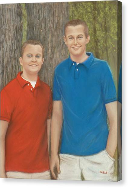 Peyton And Banner Canvas Print by Pat Neely