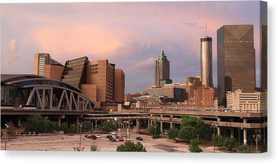 Philips Arena Wide  Canvas Print by Alberto Filho