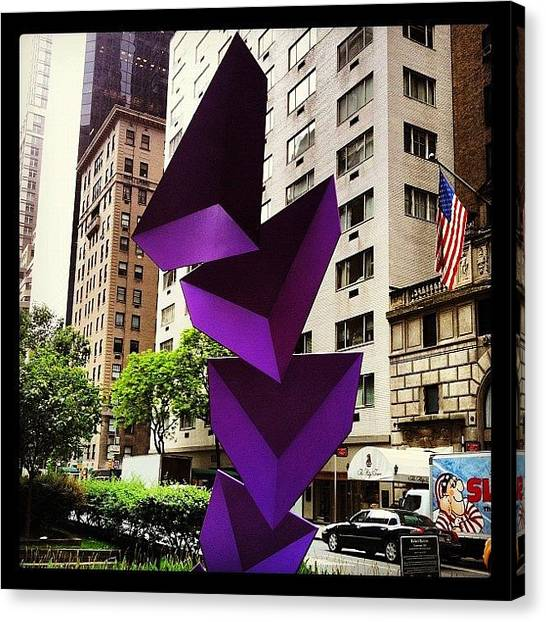 Triangles Canvas Print - Phillips De Pury Art Installation On by Arnab Mukherjee