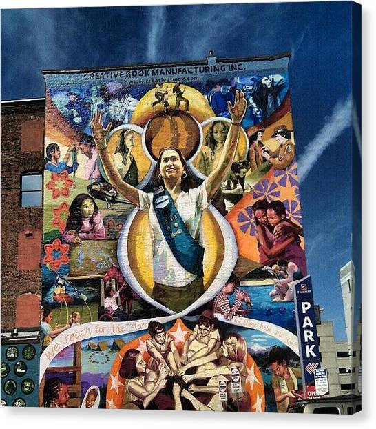 Girl Scouts Canvas Print - Philly Mural by Christian Carollo