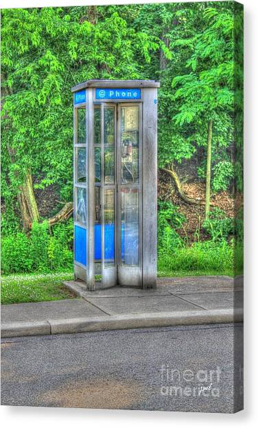 Phone Booth At Eden Park Canvas Print