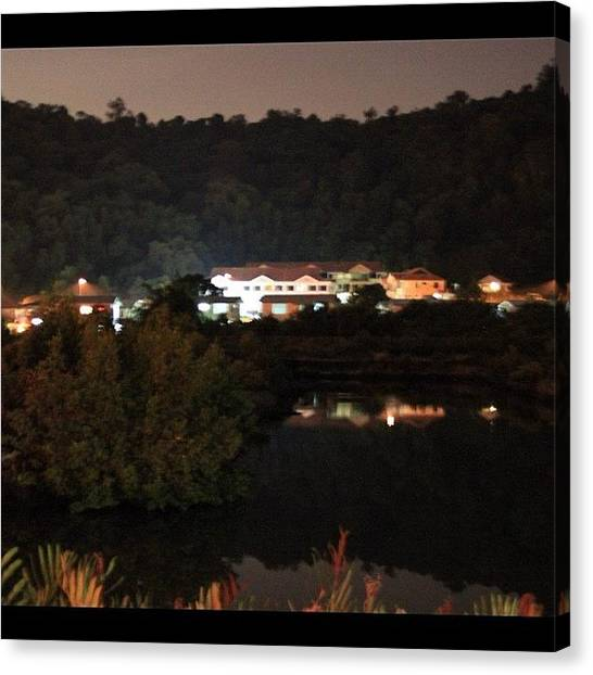 Political Canvas Print - Photo Taken At Night For A Mansion By by Ahmed Oujan