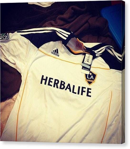 Jerseys Canvas Print - #photoadayaug #day4 #logo #herbalife by Misty Long
