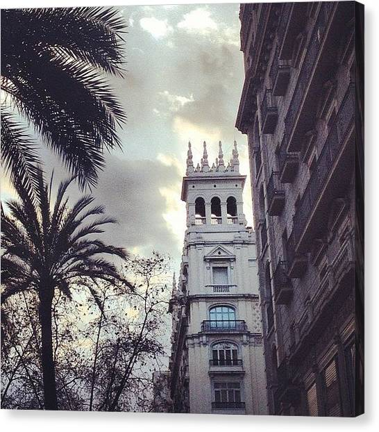 Barcelona Canvas Print - #photoftheday #iphoneography #iphonesia by Elisabet Dominguez