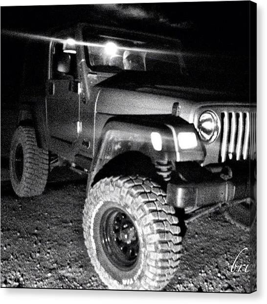Jeep Canvas Print - Photog @brieannakelly_ru by James Crawshaw