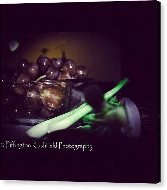 Grapes Canvas Print - #photography #food #fruit #celery by Mr Kushfield