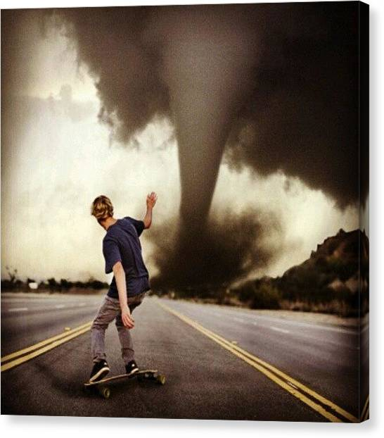 Tornadoes Canvas Print - #photography #skate #skateboard by Mimi J