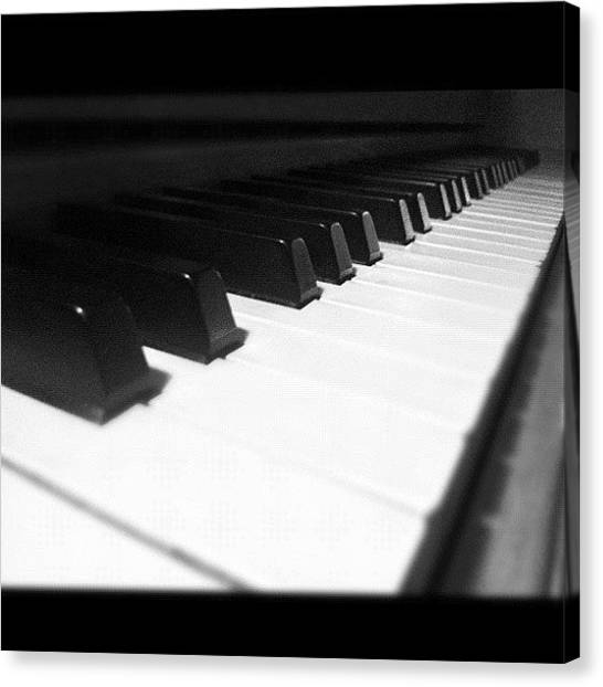 Ivory Canvas Print - #piano #love #passion #ivory by Cai King-Young