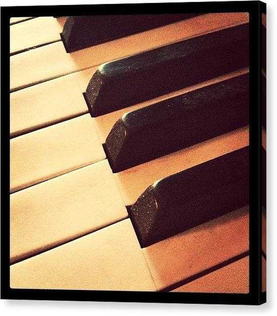 Ivory Canvas Print - #piano #pianokeys #instagood #mood #ig by Cara Lewis