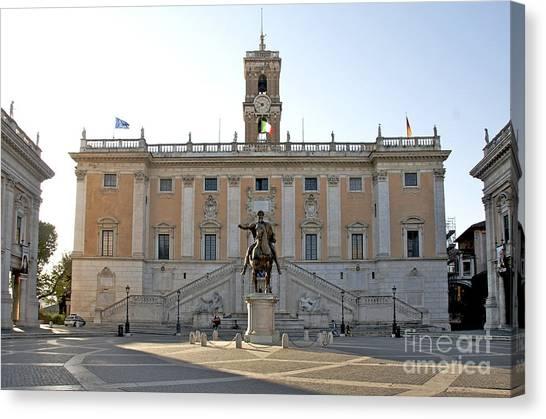 Piazza Del Campidoglio Canvas Prints Fine Art America