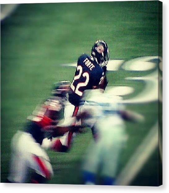 Football Teams Canvas Print - Pic I Took @ The #bears Vs #cowboys by Lindi Morris