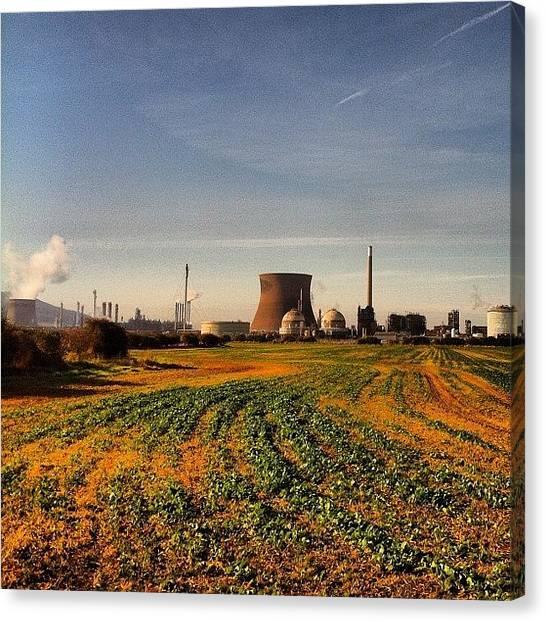Factories Canvas Print - #pic #picoftheday #photo #photooftheday by Stewart Garnett