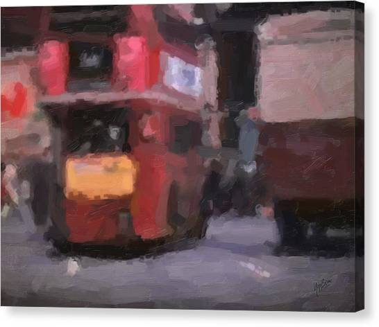 Briex Canvas Print - Picadilly Circus Busy Traffic 1967 by Nop Briex