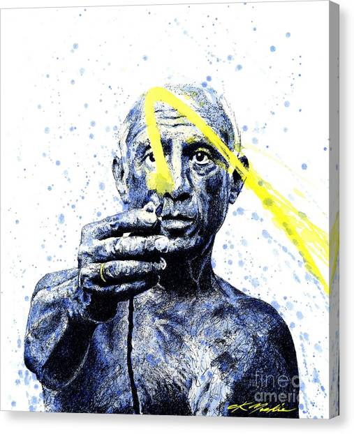 Pablo Picasso Canvas Print - Picasso by Chris Mackie