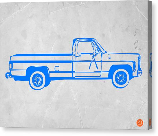 Trucks Canvas Print - Pick Up Truck by Naxart Studio