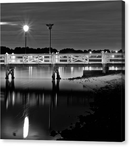 Picketted Jetty Canvas Print