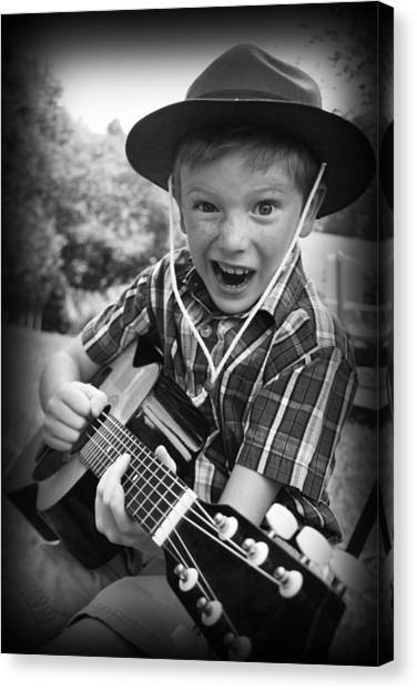Canvas Print featuring the photograph Pickin' by Kelly Hazel